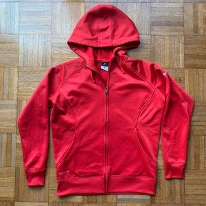 Nike Therma Fit Red Full Zip Hoodie Women's M